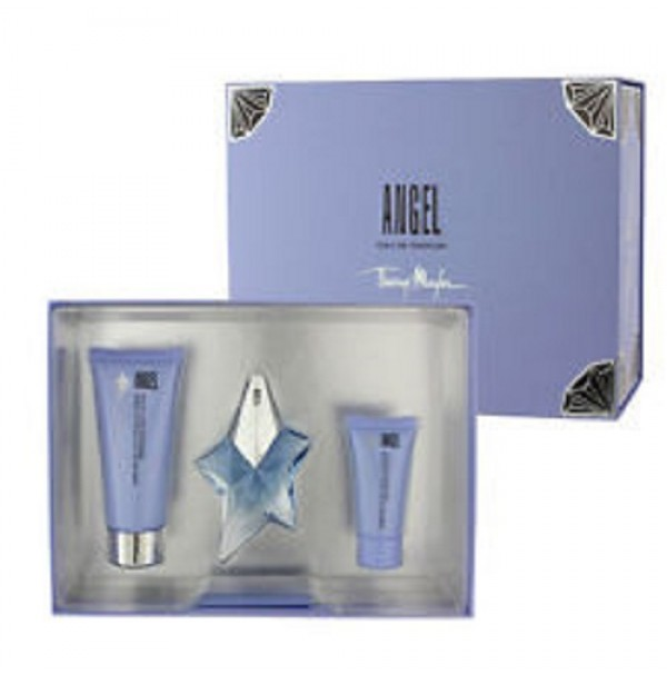 ANGEL 25ML GIFT SET 3PC FOR WOMEN EDP SPRAY BY THIERRY MUGLER