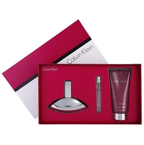 CK EUPHORIA 50ML GIFT SET 3PC PERFUME SPRAY FOR WOMEN BY CALVIN KLEIN