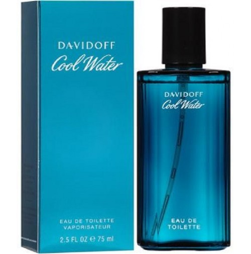 COOL WATER 75ML FOR MEN PERFUME SPRAY EDT BY DAVIDOFF