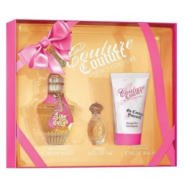 COUTURE COUTURE 50ML GIFT SET 3PC FOR WOMEN EDP BY JUICY COUTURE