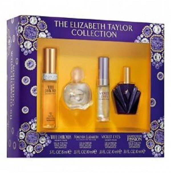 ELIZABETH TAYLOR COLLECTION MINIATURE 4PC GIFT SET FOR WOMEN BY ELIZABETH TAYLOR