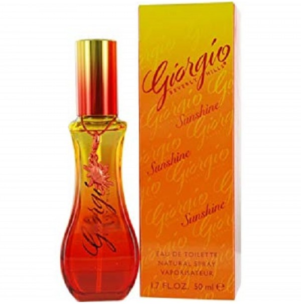 GIORGIO SUNSHINE 50ML EDT SPRAY FOR WOMEN BY GIORGIO BEVERLY HILLS - RARE