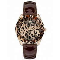 GUESS LADIES WATCH LEOPARD PRINT STYLE W0455L3