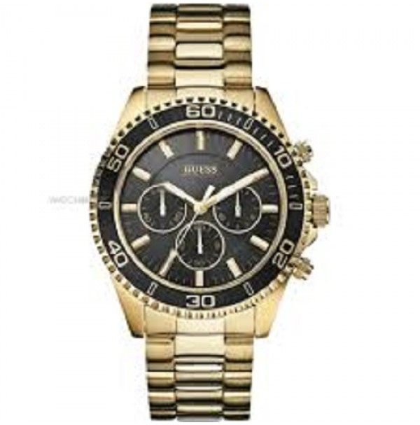 GUESS MENS WATCH CHASER CHRONOGRAPH GOLD STYLE W0170G2