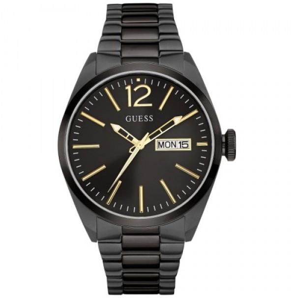 GUESS MENS WATCH VERTIGO BLACK STYLE W0657G32 RRP $379