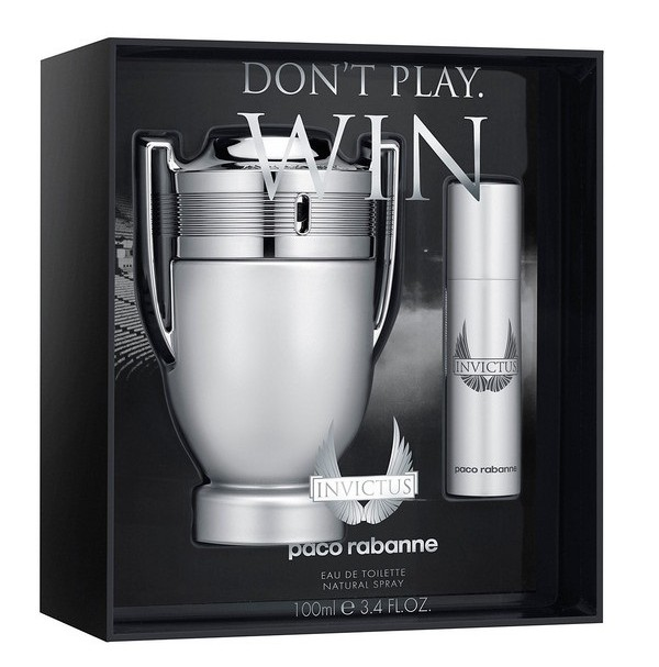 INVICTUS 100ML 2PC GIFT SET PERFUME FOR MEN BY PACO RABANNE