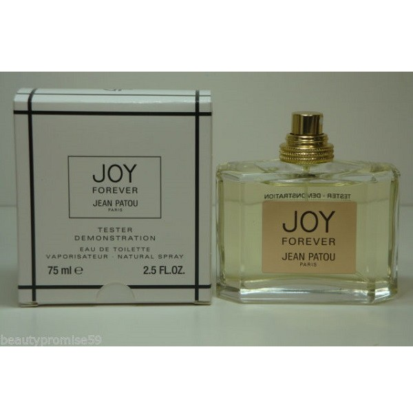 JOY FOREVER 75ML EDP TESTER PERFUME SPRAY FOR WOMEN BY JEAN PATOU. RARE TO FIND