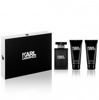 KARL LAGERFELD POUR HOMME 3PC GIFTSET EDT SPRAY BY KARL LAGERFELD