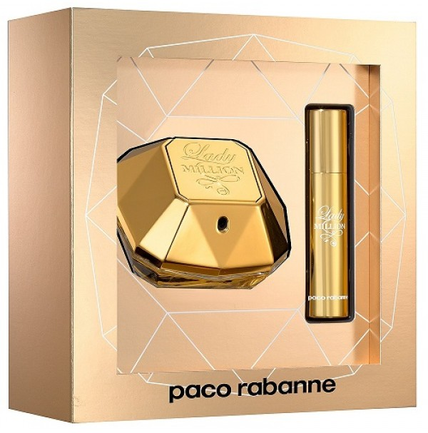LADY MILLION 50ML GIFT SET 2PC FOR WOMEN EDP BY PACO RABANNE