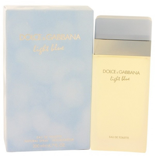 LIGHT BLUE 200ML PERFUME SPRAY FOR WOMEN EDT BY DOLCE AND GABBANA.