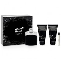 MONT BLANC LEGEND 100ML 4PC GIFT SET MENS PERFUME SPRAY EDT BY MONT BLANC