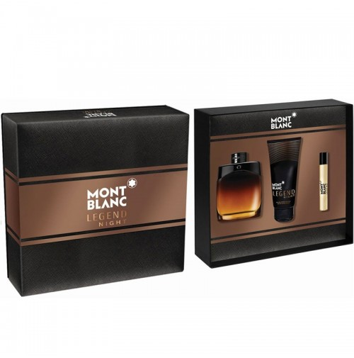 MONT BLANC LEGEND NIGHT 100ML GIFT SET 3PC FOR MEN BY MONT BLANC
