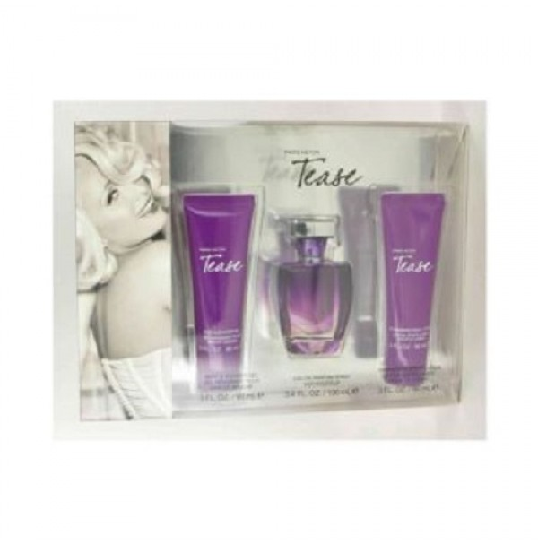 PARIS HILTON TEASE 100ML GIFT SET PERFUME EDP FOR WOMEN BY PARIS HILTON
