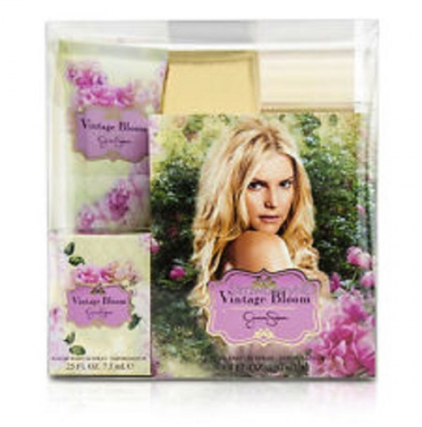 VINTAGE BLOOM 100ML 3PC GIFTSET PERFUME FOR WOMEN EDP SPRAY BY JESSICA SIMPSON