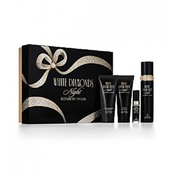 WHITE DIAMONDS NIGHT 100ML 4PC GIFT SET FOR WOMEN BY ELIZABETH TAYLOR