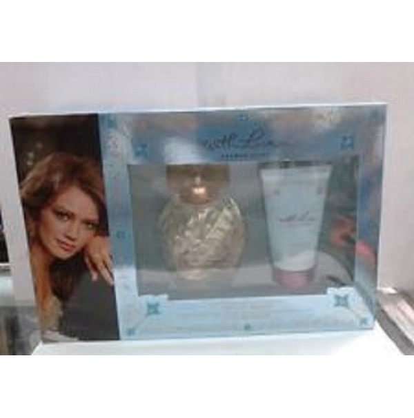 WITH LOVE 100ML EDP 2PC 50ML BODY LOTION GIFT SET WOMEN BY HILARY DUFF