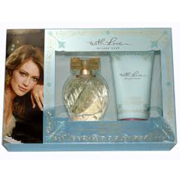 WITH LOVE 100ML EDP 2PC UNBOXED GIFT SET WOMEN BY HILARY DUFF.DISCONTINUED.